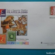 Sellos: 2000-SOBRES ENTERO POSTAL-Nº67-EXPO,FILATELIA 2000-SERIE COMPLETA (5 SOBRES). Lote 244562420