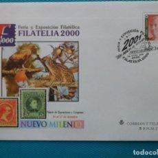 Sellos: 2000-SOBRES ENTERO POSTAL-Nº67-EXPO,FILATELIA 2000-SERIE COMPLETA (5 SOBRES). Lote 244562745