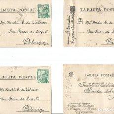 Sellos: LOTE DE 4 TARJETAS POSTALES FRANCO ESFINGE CIRCULADAS.. Lote 246439765