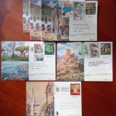 Selos: FILATELIA, ENTEROS POSTALES (EP) CIRCULADOS 6. 3 DE ELLOS IGUALES. Lote 246811920