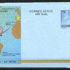 Selos: AEROGRAMA 1ª TRAVESIA DEL ATLANTICO EN GLOBO REF: EDIFIL 222. Lote 251845525