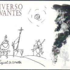 Sellos: ESPAÑA 2016 - UNIVERSO CERVANTES - TARJETA POSTAL NUEVA, DEBUJADA DE MIGUEL DE CERVANTES, EL QUIJOTE. Lote 253550680