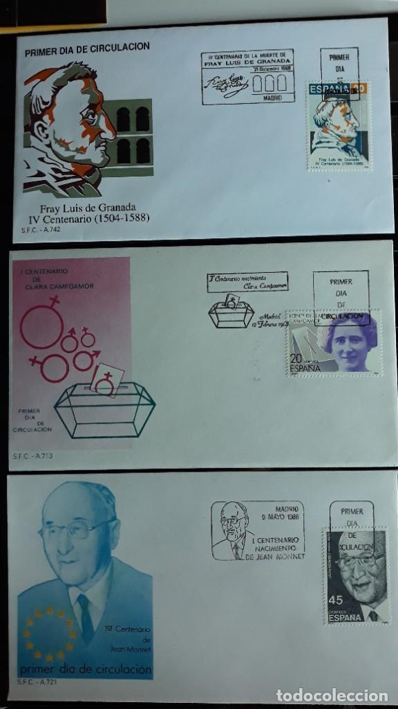 SOBRES PRIMER DIA SPD EDIFIL 2929 + 2930 + 2931 ESPAÑA 1988 (Sellos - España - Entero Postales)