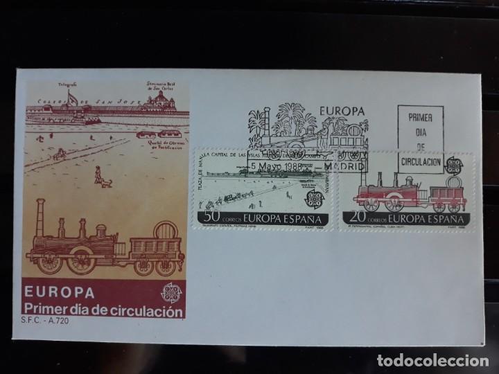 SOBRE PRIMER DIA SPD EDIFIL 2949 + 2950 ESPAÑA 1988 (Sellos - España - Entero Postales)