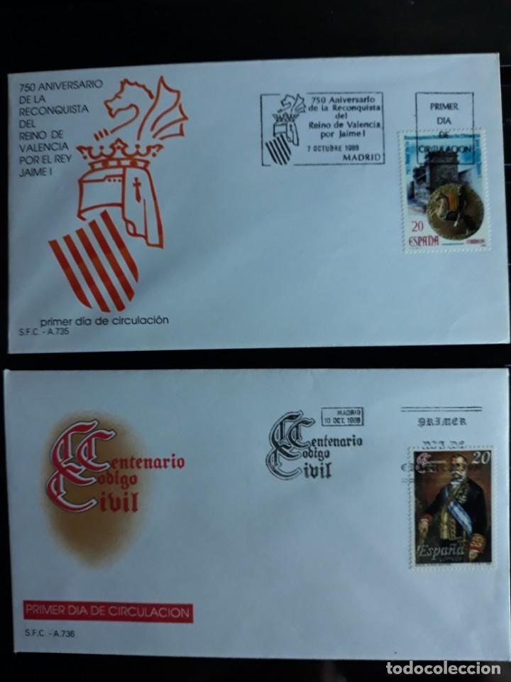 SOBRES PRIMER DIA SPD EDIFIL 2967 + 2968 ESPAÑA 1988 (Sellos - España - Entero Postales)