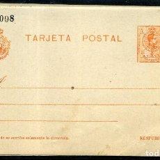 Sellos: ESPAÑA (ENTERO POSTAL) Nº 52. AÑO 1910. Lote 254180155