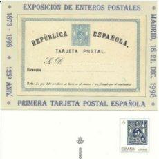 Francobolli: 1998-Nº54-LA TARJETA DEL CORREO-EXPO. ENTEROS POSTALES.-TARIFA -A. Lote 254501735