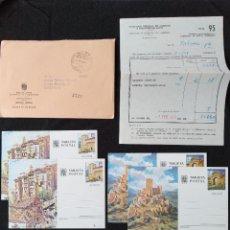 Sellos: SOBRE SERVICIO FILATÉLICO Y TARJETAS ENTERO POSTAL NUM.95,1976. Lote 255962065