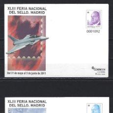 Sellos: SEP 132/33 ENTERO POSTAL FERIA SELLO 4653 CENT. AVIACION MILITAR ESPAÑOLA EUROFIGTHER CASA C 101 NUE. Lote 255976410