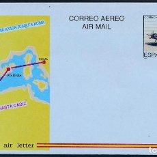 Selos: 1989 ESPAÑA ED A-214 SOBRES AEROGRAMAS CADIZ ROMA AEROGRAMAS **MNH PERFECTO ESTADO, NUEVO SIN CHARN. Lote 258266715
