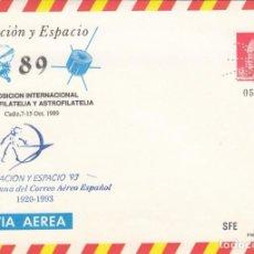 Selos: ESPAÑA SOBRE ENTERO POSTAL OFICIAL 13 - EXFILNA'89. TOLEDO 1989. MARCA PERFORADO.. Lote 258965990