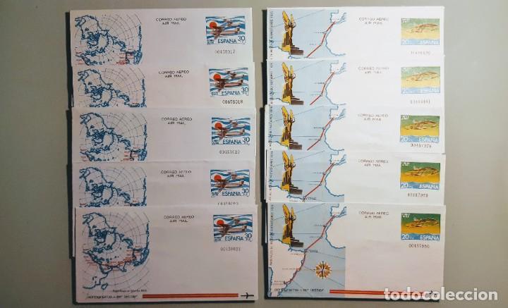 EDIFIL 201-202 AEROGRAMAS ESPAÑA 1981. SERIE DE 2 VALORES. LOTE 5 SERIES. NUEVOS. (Sellos - España - Entero Postales)