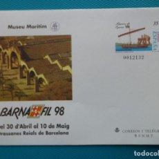 Sellos: 1998-ESPAÑA-Nº45-SOBRES-ENTEROS POSTALES-LOTE COMPLETO(4 SOBRES). Lote 263020745