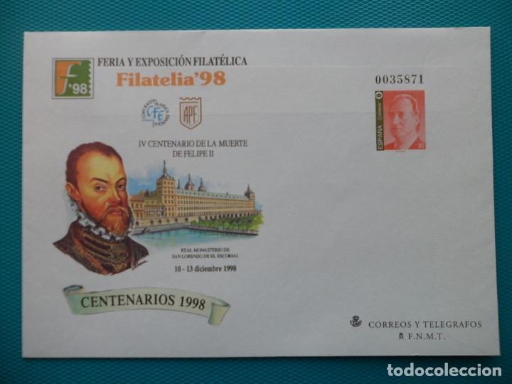 1998-ESPAÑA-Nº50 Y Nº 51-SOBRES-ENTEROS POSTALES-LOTE COMPLETO(2 SOBRES) (Sellos - España - Entero Postales)