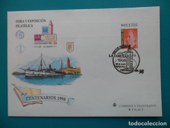 1998-ESPAÑA-Nº50 Y Nº 46 Y Nº 47-SOBRES-ENTEROS POSTALES-LOTE COMPLETO(2 SOBRES)CON FECHA (Sellos - España - Entero Postales)