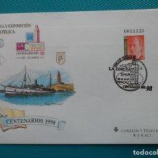 Selos: 1998-ESPAÑA-Nº50 Y Nº 46 Y Nº 47-SOBRES-ENTEROS POSTALES-LOTE COMPLETO(2 SOBRES)CON FECHA. Lote 263026870