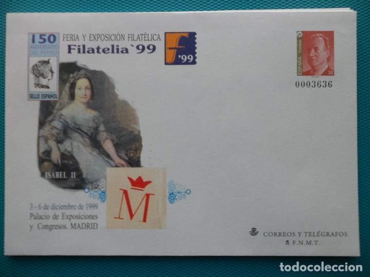 1999-ESPAÑA-Nº57-SOBRES-ENTEROS POSTALES-LOTE COMPLETO-(5 SOBRES) (Sellos - España - Entero Postales)