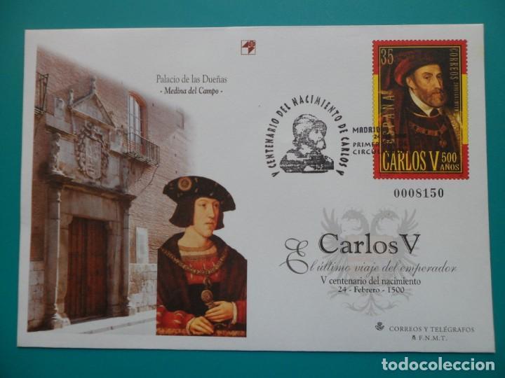 2000-ESPAÑA-Nº65/6-SOBRES-ENTEROS POSTALES-LOTE COMPLETO-(5 SOBRES)CON FECHA (Sellos - España - Entero Postales)