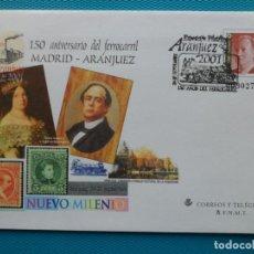 Selos: 2001-ESPAÑA-Nº73-SOBRES-ENTEROS POSTALES-LOTE COMPLETO-(4 SOBRES)CON FECHA. Lote 263122915