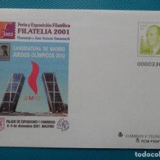 Sellos: 2001-ESPAÑA-Nº74-SOBRES-ENTEROS POSTALES-LOTE COMPLETO-(4 SOBRES). Lote 263123305