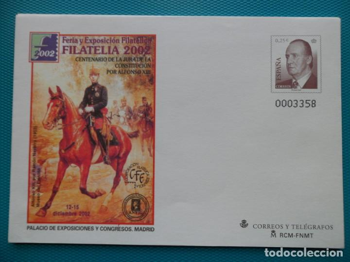 2002-ESPAÑA-Nº83-SOBRES-ENTEROS POSTALES-LOTE COMPLETO-(4 SOBRES) (Sellos - España - Entero Postales)