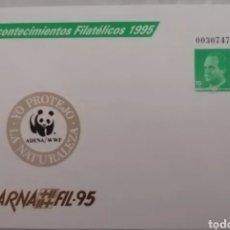 Sellos: ESPAÑA 1995 SOBRE ENTERO POSTAL EDIFIL 27 BARNAFIL 95FAUNA ADENA WWF NUEVO MNH. Lote 267142284