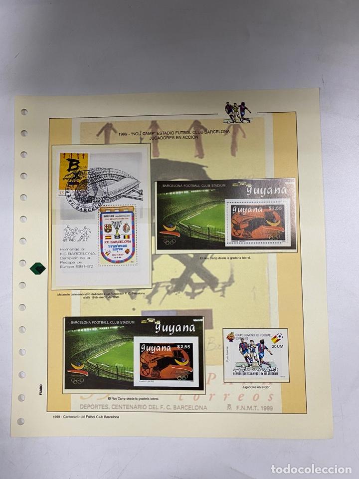 Sellos: CENTENARIO DEL F.C. BARCENOLA 1999. HOJAS BLOQUE Y ENTERO POSTALES. VER FOTOS - Foto 2 - 270560873
