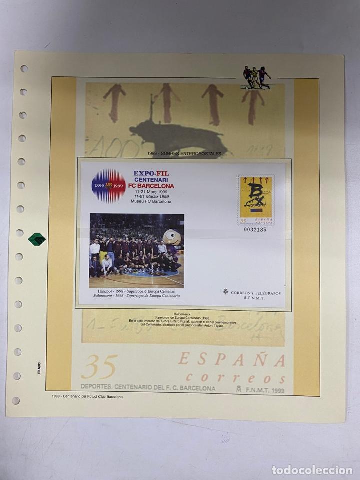 Sellos: CENTENARIO DEL F.C. BARCENOLA 1999. HOJAS BLOQUE Y ENTERO POSTALES. VER FOTOS - Foto 5 - 270560873