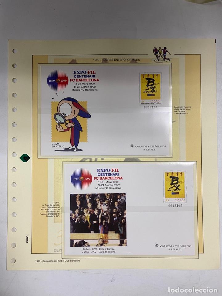 Sellos: CENTENARIO DEL F.C. BARCENOLA 1999. HOJAS BLOQUE Y ENTERO POSTALES. VER FOTOS - Foto 6 - 270560873
