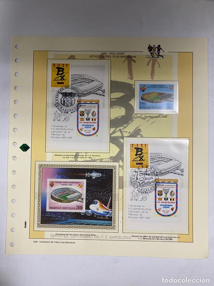 Sellos: CENTENARIO DEL F.C. BARCENOLA 1999. HOJAS BLOQUE Y ENTERO POSTALES. VER FOTOS - Foto 7 - 270560873
