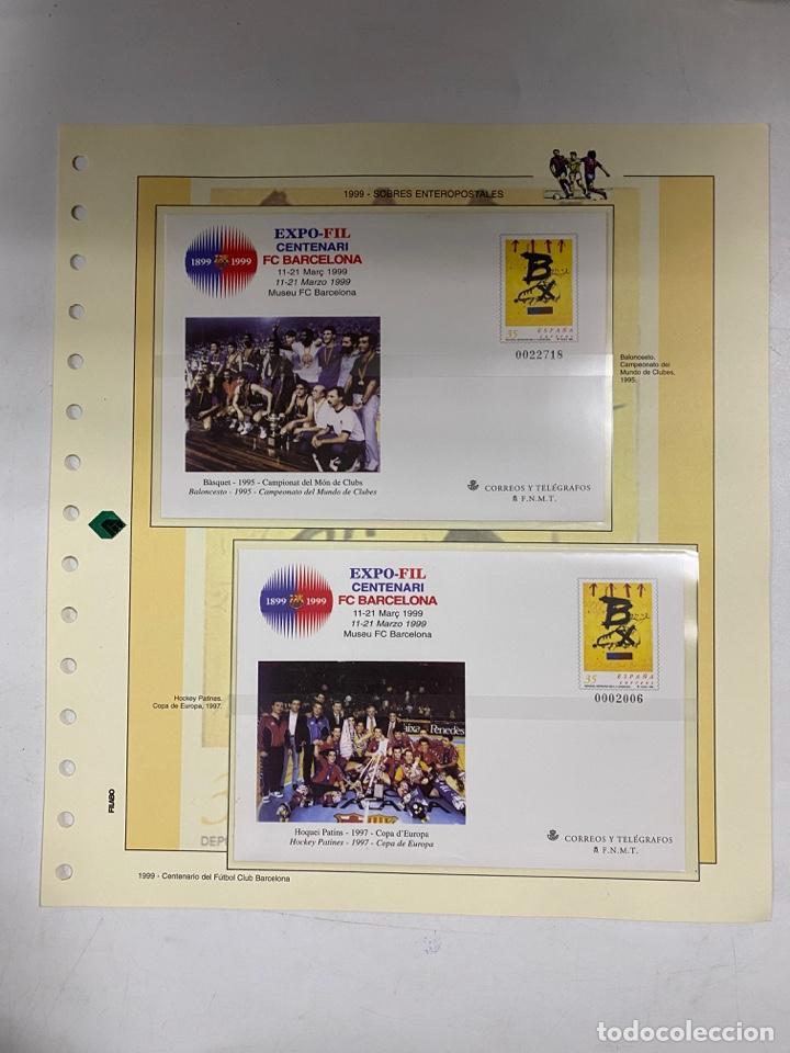 Sellos: CENTENARIO DEL F.C. BARCENOLA 1999. HOJAS BLOQUE Y ENTERO POSTALES. VER FOTOS - Foto 8 - 270560873