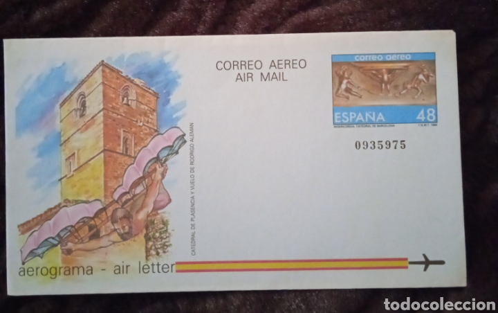 MATASELLOS SOBRE DEL PRIMER DÍA CORREO AEREO (Sellos - España - Entero Postales)
