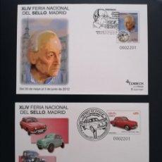 Selos: ESPAÑA 2012 SOBRE ENTERO POSTAL EDIFIL 135/136 FERIA NACIONAL DEL SELLO MATASELLO PRIMER DIA. Lote 271365363