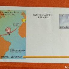 Sellos: ESPAÑA, AEROGRAMA N°222,AÑO 1997 NUEVO (FOTOGRAFÍA ESTÁNDAR). Lote 272227208