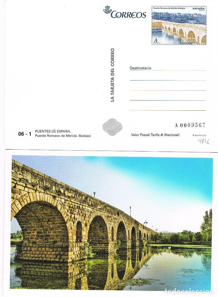 TARJETA DEL CORREO 06 - 1, EDIFIL Nº 4819, PUENTE ROMANO DE MERIDA (BADAJOZ), SIN USAR (Sellos - España - Entero Postales)