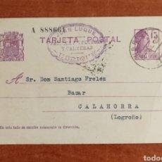 Selos: ESPAÑA ENTERO POSTAL N°69 CIRCULADO AÑO 1032 (FOTOGRAFÍA REAL). Lote 275096258
