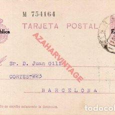 Selos: ENTERO POSTAL CIRCULADO, 1931, MIERES, ASTURIAS. Lote 276352473