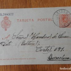 Sellos: ANTIGUA TARJETA POSTAL.VICENTE ESCANDELL CREMADES.NOVELDA ALICANTE 1919. Lote 276393073