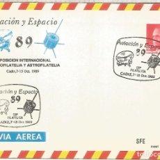 Sellos: ENTERO POSTAL AVIACION Y ESPACIO 89 AUTOGIRO SATELITE MAT CADIZ. Lote 276728573