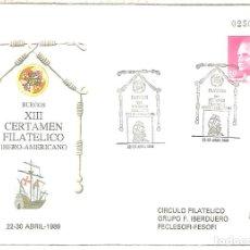 Sellos: ENTERO POSTAL BURGOS CASA CORDON COLON COLUMBUS BARCO SHIP. Lote 276728918