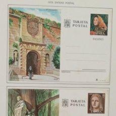 Sellos: ENTEROS POSTALES 1978 - PUERTA DE LAS TABLAS / MONUMENTO A BECQUER. Lote 282902718