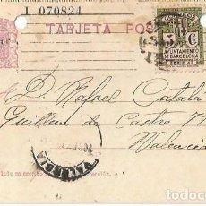 Francobolli: TARJETA POSTAL AYUN. BARNA 5CS. MATRONA REPÚBLICA ESPAÑOLA 15C. BARCELONA SEPT1935. Lote 287345518