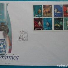 Sellos: 2004-ESPAÑA-FDC-HOJITA-BLOC-(SOBRE GRANDE)ARTE ROMANICO ARAGONES. Lote 289592138