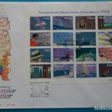 Sellos: 2004-ESPAÑA-FDC-HOJITA-BLOC-(SOBRE GRANDE)-CORESPONDENCIA EPISTOLAR ESCOLAR. Lote 289592478