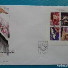 Sellos: 2004-ESPAÑA-FDC-HOJITA-BLOC-(SOBRE GRANDE)-INDUMENTARIA-EL MANTON. Lote 289593473