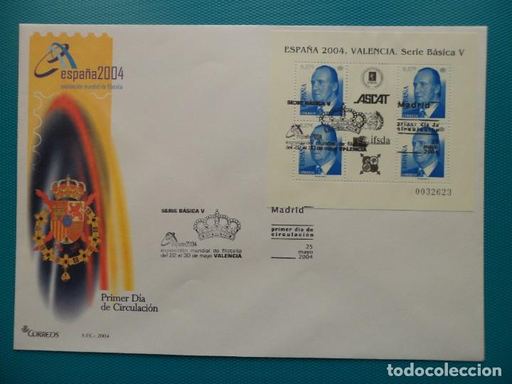 2004-ESPAÑA-FDC-HOJITA-BLOC-(SOBRE GRANDE)-JUAN CARLOS I (Sellos - España - Entero Postales)
