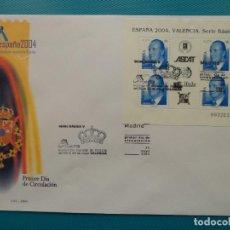 Sellos: 2004-ESPAÑA-FDC-HOJITA-BLOC-(SOBRE GRANDE)-JUAN CARLOS I. Lote 289594673