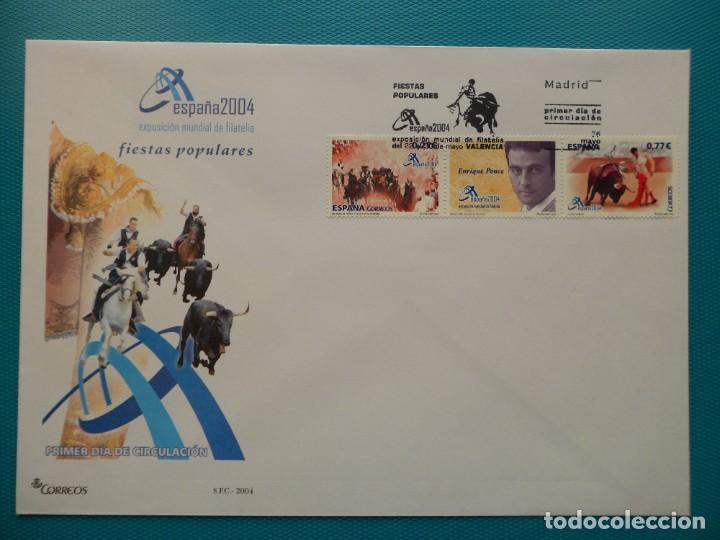 2004-ESPAÑA-FDC-HOJITA-BLOC-(SOBRE GRANDE)-EXPO MUNDIAL DE FILATELIA-ESPAÑA 2004-VALENCIA (Sellos - España - Entero Postales)