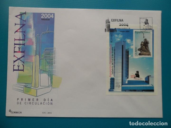 2004-ESPAÑA-FDC-HOJITA-BLOC-(SOBRE GRANDE)-EXPO.FILATELICA NACIONAL-EXFILNA 2004 (Sellos - España - Entero Postales)