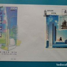 Sellos: 2004-ESPAÑA-FDC-HOJITA-BLOC-(SOBRE GRANDE)-EXPO.FILATELICA NACIONAL-EXFILNA 2004. Lote 289595458